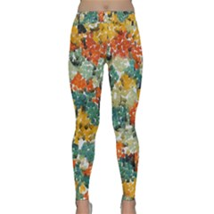 Paint strokes in retro colorsYoga Leggings