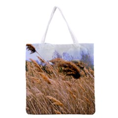 Blowing Prairie Grass Grocery Tote Bag