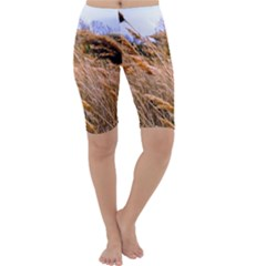 Blowing Prairie Grass Cropped Leggings