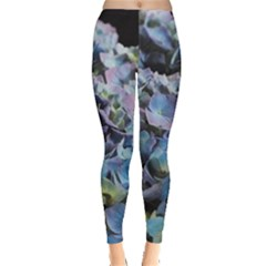 Blue And Purple Hydrangea Group Leggings