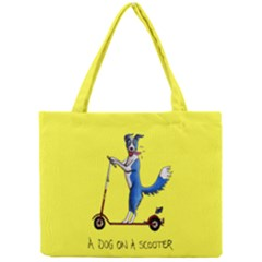 A Dog On A Scooter Tiny Tote Bag