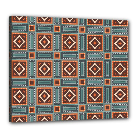 Squares Rectangles And Other Shapes Pattern Canvas 24  X 20  (stretched)
