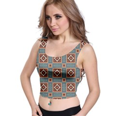 Squares rectangles and other shapes pattern Crop Top