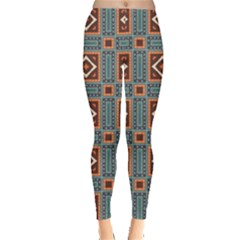 Squares rectangles and other shapes pattern Leggings