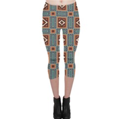 Squares rectangles and other shapes pattern Capri Leggings