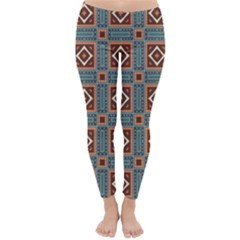 Squares Rectangles And Other Shapes Pattern Winter Leggings