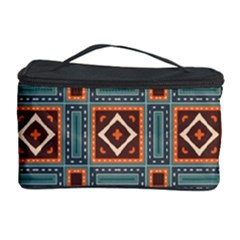Squares Rectangles And Other Shapes Pattern Cosmetic Storage Case