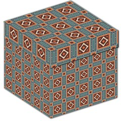 Squares rectangles and other shapes pattern Storage Stool