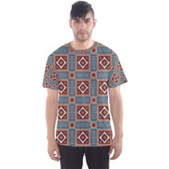 Squares rectangles and other shapes pattern Men s Sport Mesh Tee