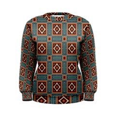 Squares Rectangles And Other Shapes Pattern Sweatshirt