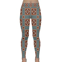 Squares Rectangles And Other Shapes Pattern Yoga Leggings