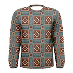 Squares rectangles and other shapes pattern Men Long Sleeve T-shirt