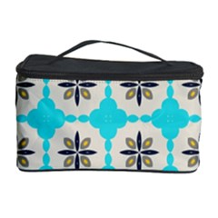 Floral pattern on a blue background Cosmetic Storage Case