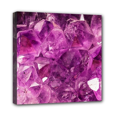 Amethyst Stone Of Healing Mini Canvas 8  X 8  (framed)