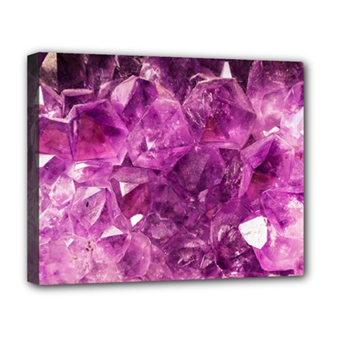 Amethyst Stone Of Healing Deluxe Canvas 20  X 16  (framed)