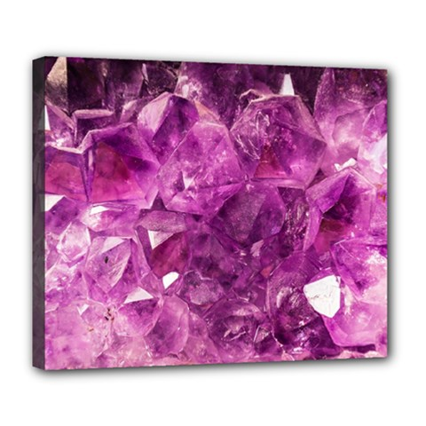 Amethyst Stone Of Healing Deluxe Canvas 24  X 20  (framed)