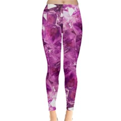 Amethyst Stone Of Healing Leggings