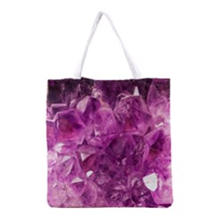 Amethyst Stone Of Healing Grocery Tote Bag