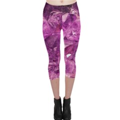 Amethyst Stone Of Healing Capri Leggings
