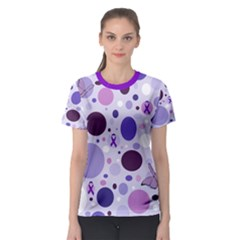 Purple Awareness Dots Women s Sport Mesh Tee