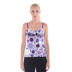 Purple Awareness Dots Spaghetti Strap Top