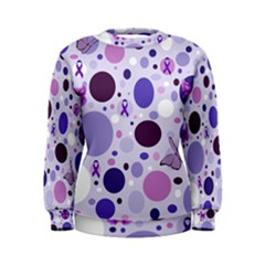 Purple Awareness Dots Women s Sweatshirt