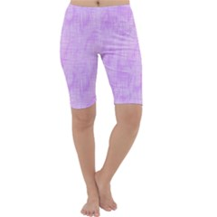Hidden Pain In Purple Cropped Leggings