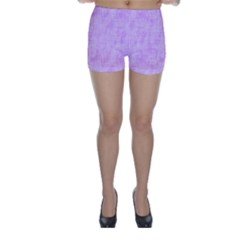 Hidden Pain In Purple Skinny Shorts