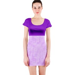 Hidden Pain In Purple Short Sleeve Bodycon Dress