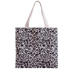 Elegant Glittery Floral Grocery Tote Bag