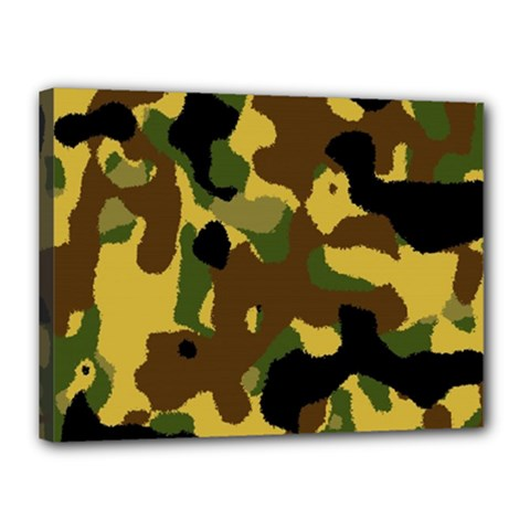 Camo Pattern  Canvas 16  X 12  (framed)