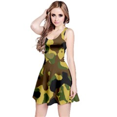 Camo Pattern  Sleeveless Dress