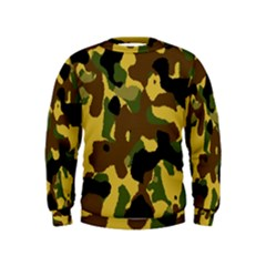 camo-pattern Kids Sweatshirts