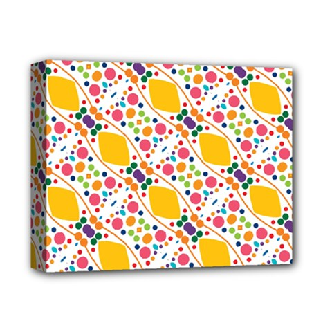 Dots And Rhombus Deluxe Canvas 14  X 11  (stretched)