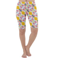 Dots and rhombus Cropped Leggings