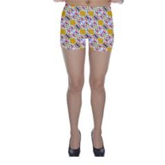 Dots And Rhombus Skinny Shorts