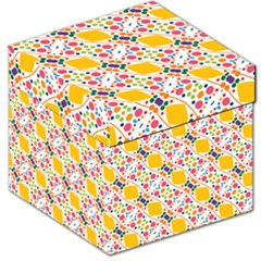 Dots And Rhombus Storage Stool