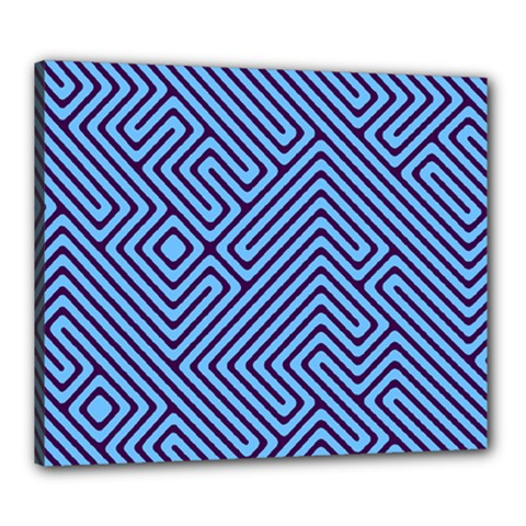 Blue Maze Canvas 24  X 20  (stretched)