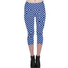Blue maze Capri Leggings