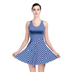 Blue Maze Reversible Skater Dress