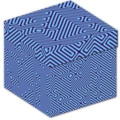 Blue maze Storage Stool