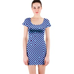 Blue Maze Short Sleeve Bodycon Dress