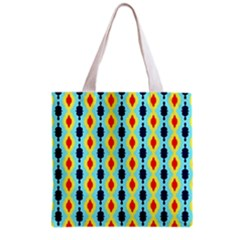 Yellow chains pattern Grocery Tote Bag