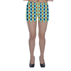 Yellow chains pattern Skinny Shorts