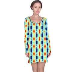 Yellow Chains Pattern Nightdress