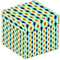 Yellow chains pattern Storage Stool