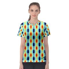 Yellow chains pattern Women s Sport Mesh Tee