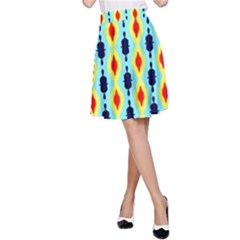 Yellow chains pattern A-line Skirt