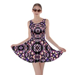 Colorful Tribal Geometric Print Skater Dress