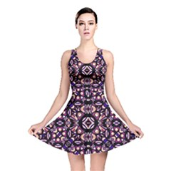 Colorful Tribal Geometric Print Reversible Skater Dress